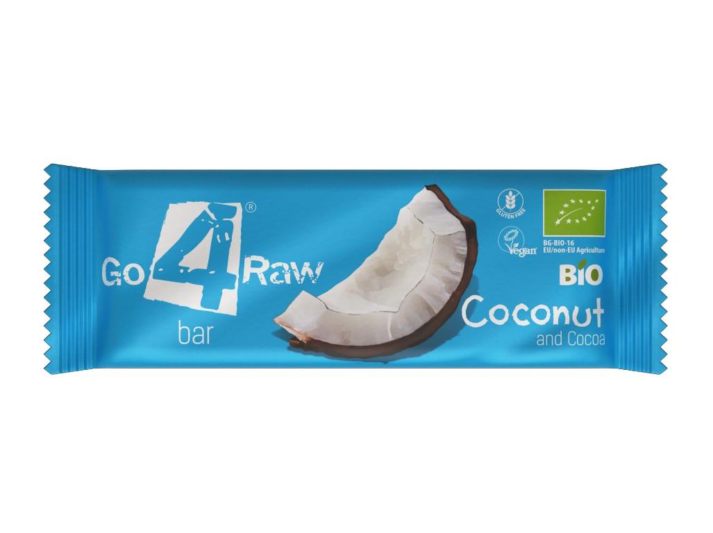 GO4RAW Bio tyčinka COCONUT&COCOA 25g