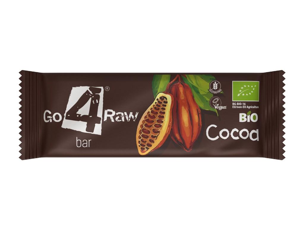 GO4RAW Bio tyčinka COCOA 25 g