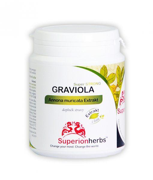 Superionherbs Graviola, Extrakt z listů 90 kapslí