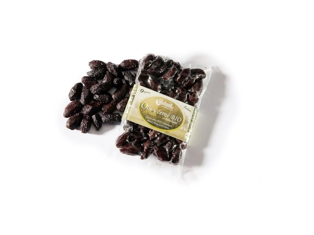 Lifefood Olivy černé sušené bez pecek z Peru BIO 150g