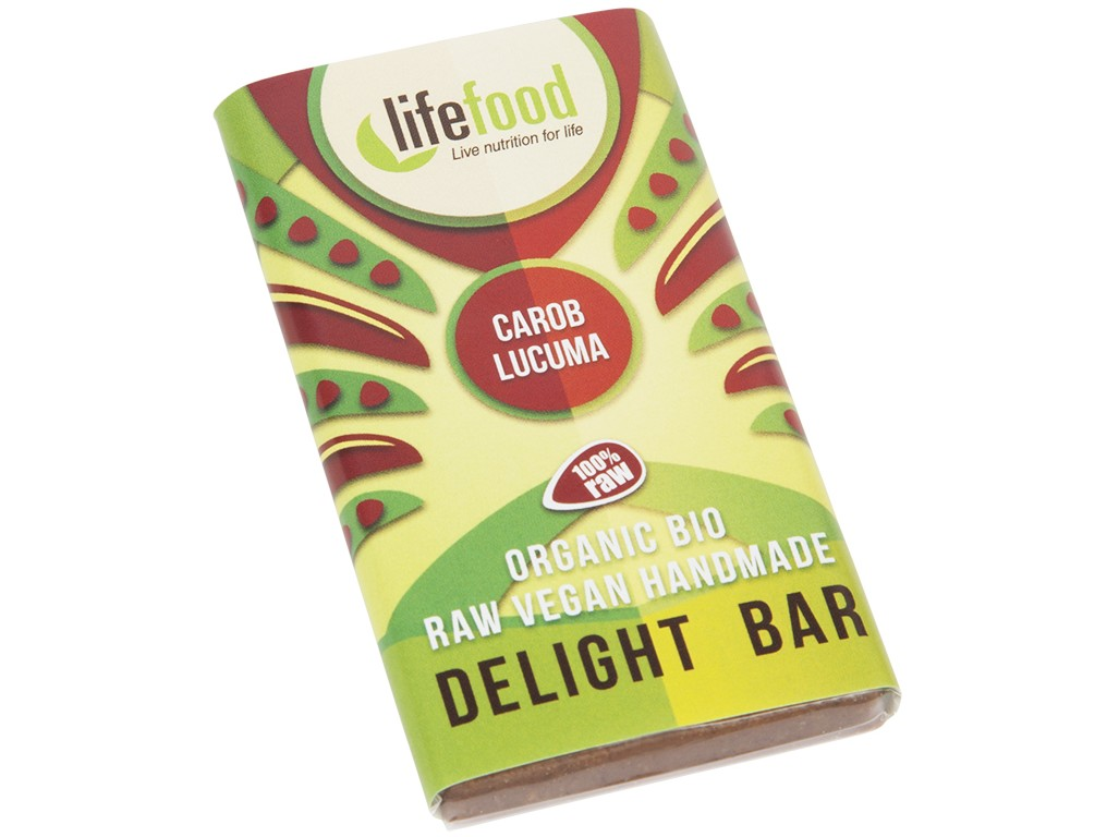 Bio Lifefood mini čokoládka karobová s lucumou 15g