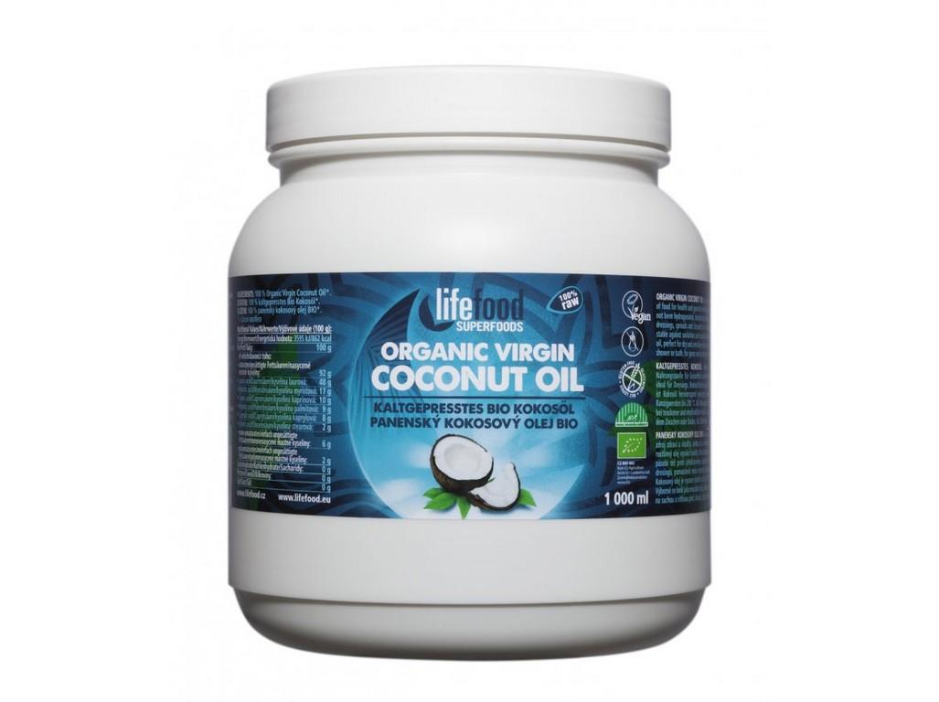 Lifefood Bio Panenský kokosový olej 1l