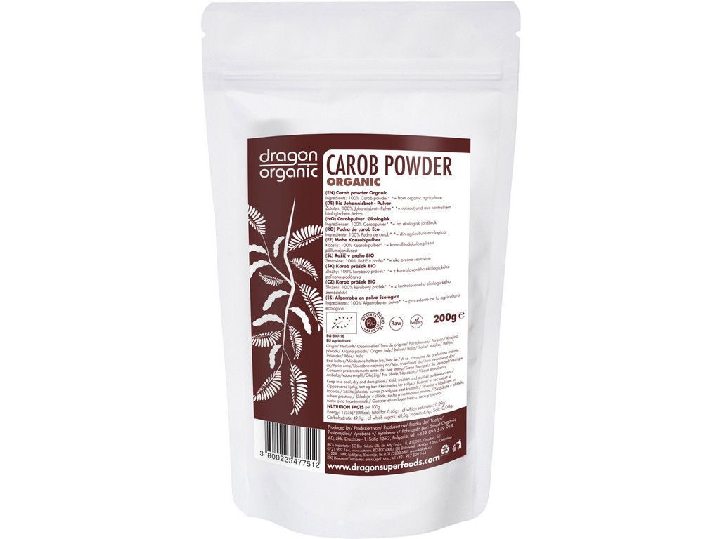 Dragon superfoods Karob prášek 200g BIO