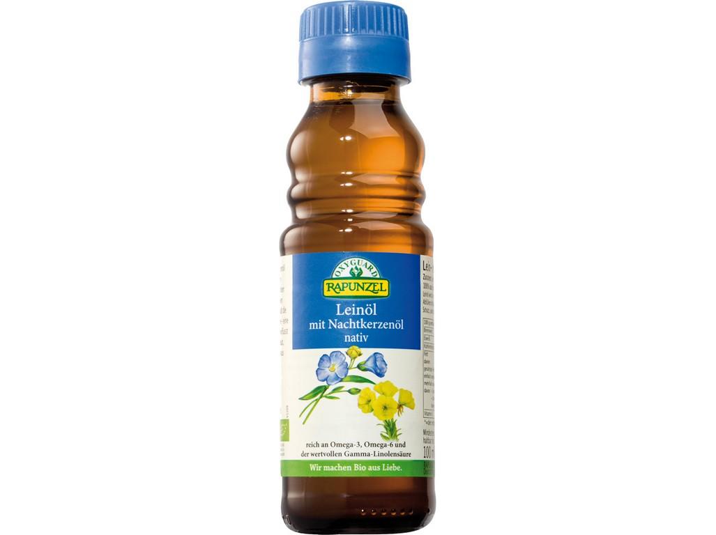 Rapunzel Bio lněný olej lisovaný za studena s pupalkou 100ml