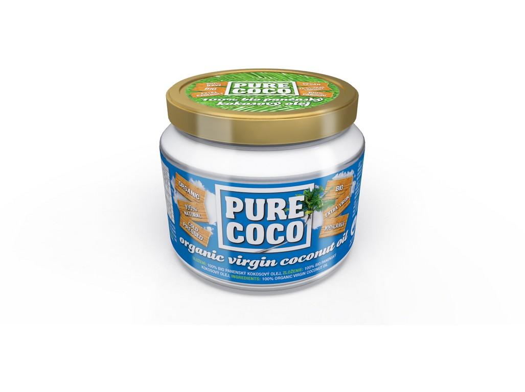 Bio Panenský kokosový olej 250ml Pure coco, min.trv. 22.9.2018