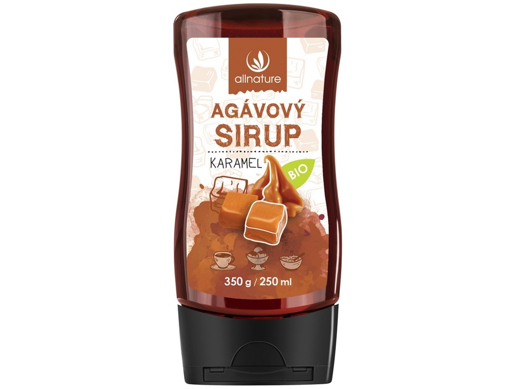 Allnature Bio Agávový sirup karamel 350g