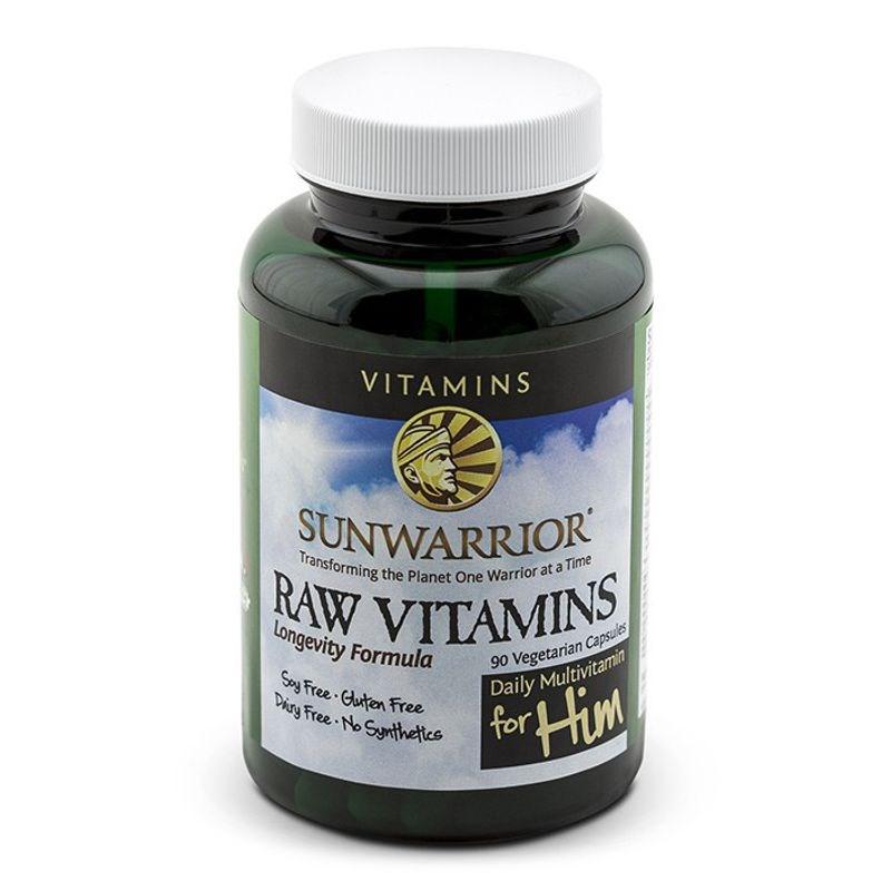 Sunwarrior Raw Vitamins For Him 90 kapslí (Vitamíny pro muže)