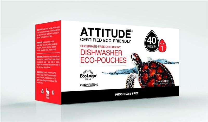 Clean Attitude Eco Dishwasher Soluble Pouches 520g