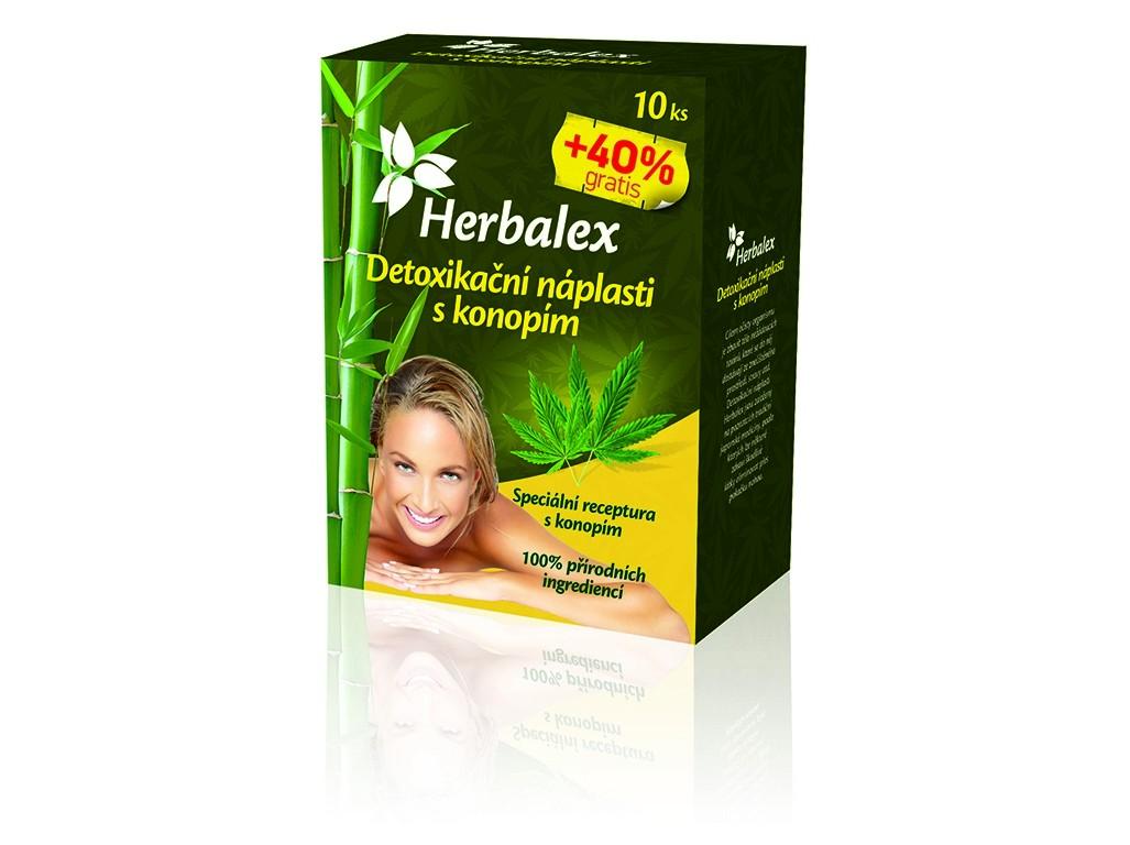 Herbalex Detoxikační náplastí s konopím 10+40% GRATIS