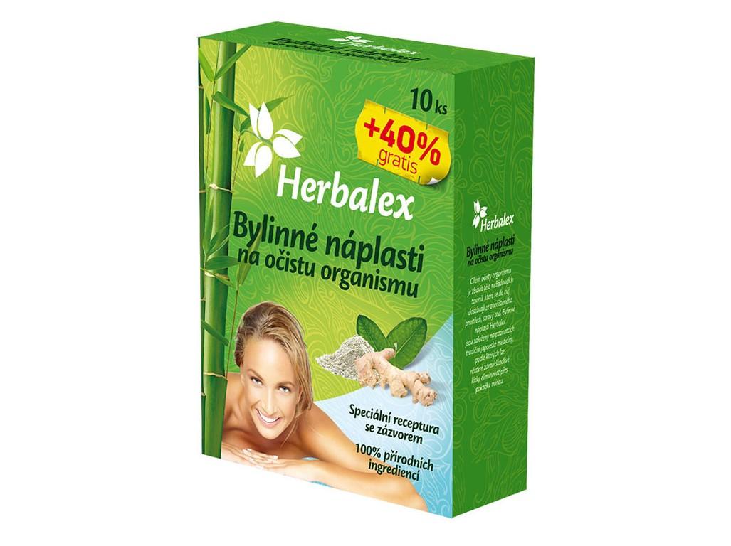 Herbalex Bylinné náplasti na očistu organismu 10+40% GRATIS 14x9g