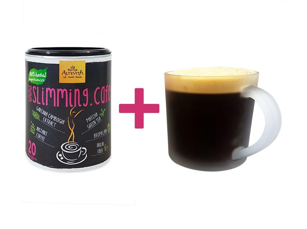 Altevita Slimming cafe karamel 100g + hrneček ZDARMA