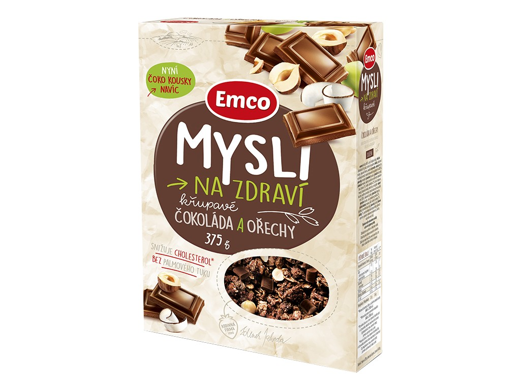Emco Mysli čokoláda a ořechy 375g