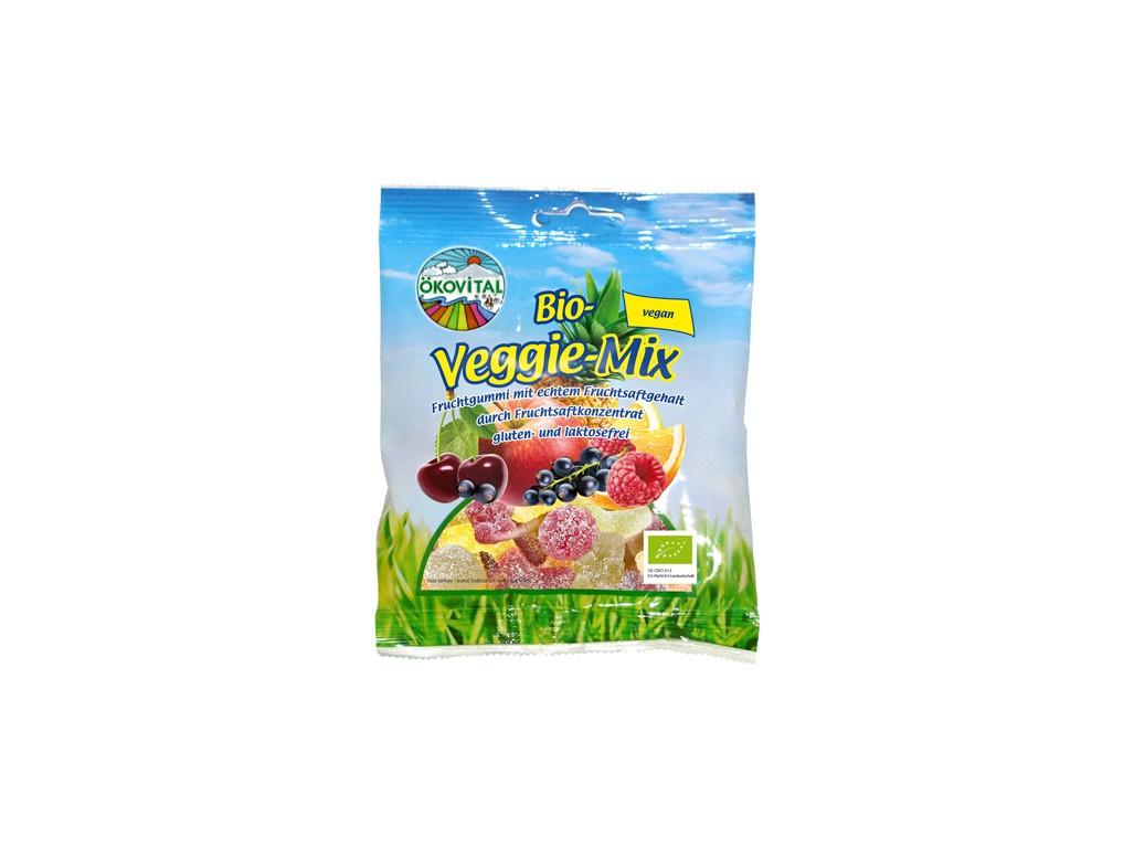 Bio gumové bonbony Ekovital Veggie 100g