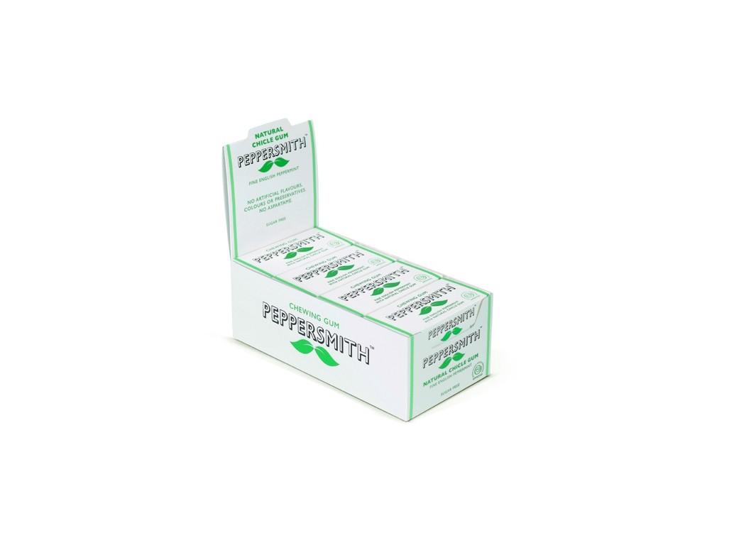 Peppersmith žvýkačka - Máta kartonové balení 12ks