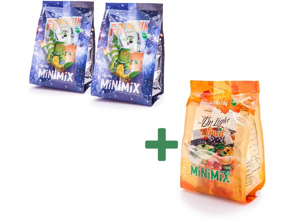 AKCE 2+1 - 2x Minimix Frukvik + 1x Minimix Dr.Light Fruit, min.trv. 11.2.2019