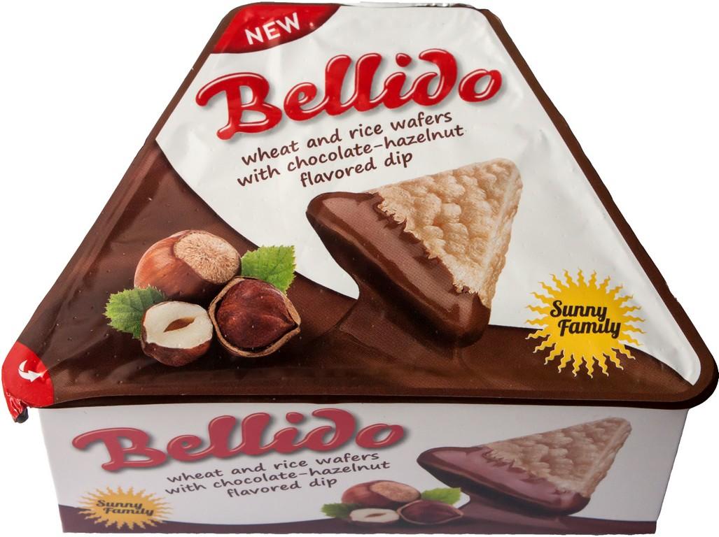 Bellido Pšeničné a rýžové oplatky s čokoládovo- oříškovou příchutí 58g