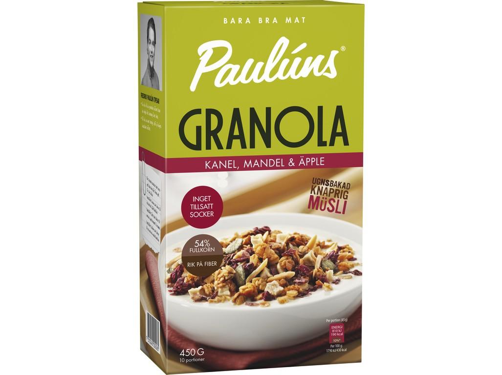 Paulúns Granola se skořicí a jablky 450g