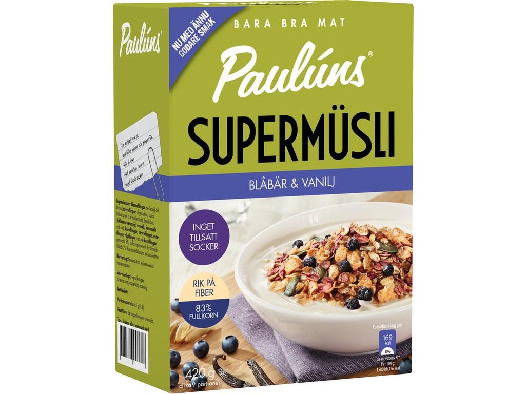 Paulúns Müsli s borůvkami a vanilkou 420g