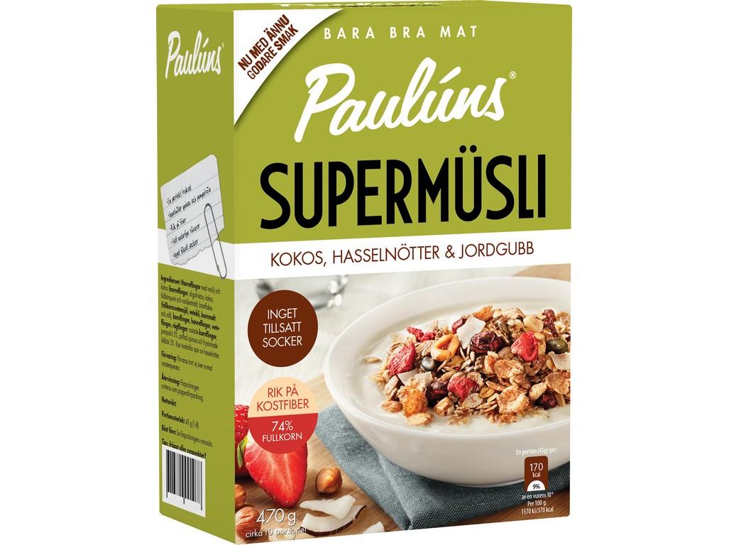 Paulúns Müsli s kokosem, oříšky, jahodami 470g