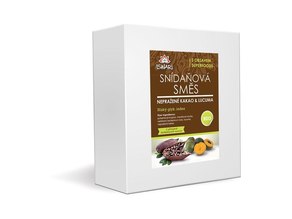 Iswari Bio snídaňová směs nepražené kakao-lucuma family 3,2kg