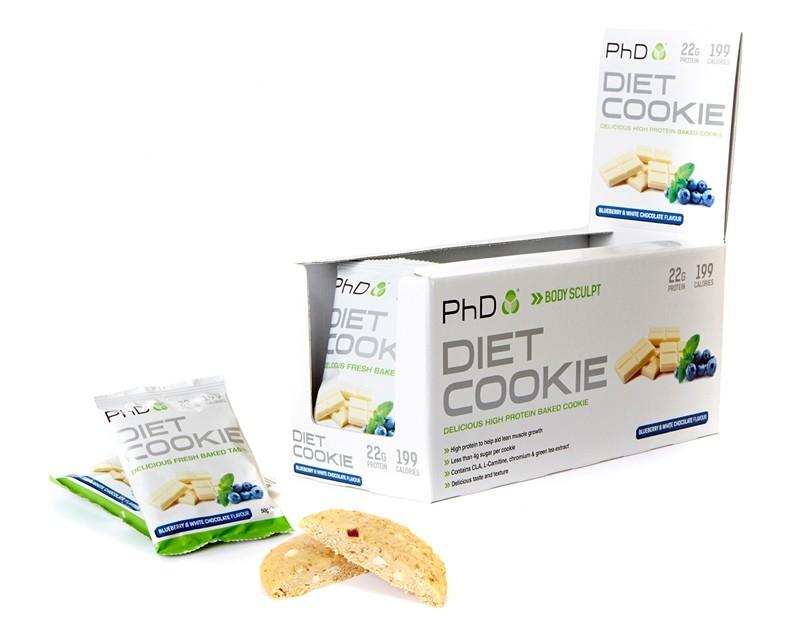 PhD Nutrition Diet Cookie 50g Jméno: Diet Cookie 50g borůvka s bílou čokoládou