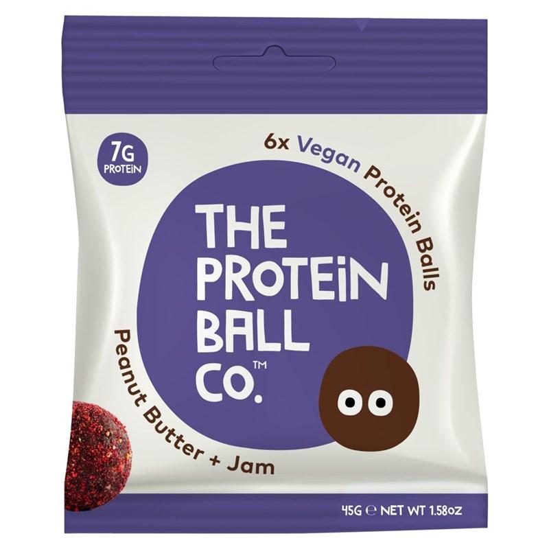 The Protein Ball co Vegan Protein Balls 45g (Veganské proteinové kuličky) peanut butter + jam