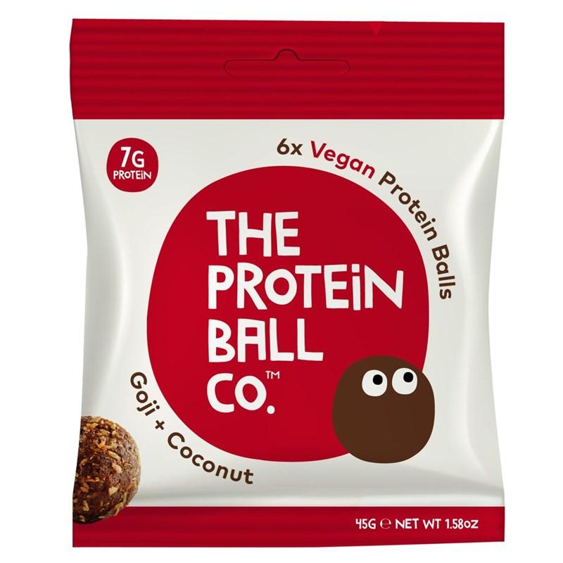 The Protein Ball co Vegan Protein Balls 45g (Veganské proteinové kuličky) goji & coconut