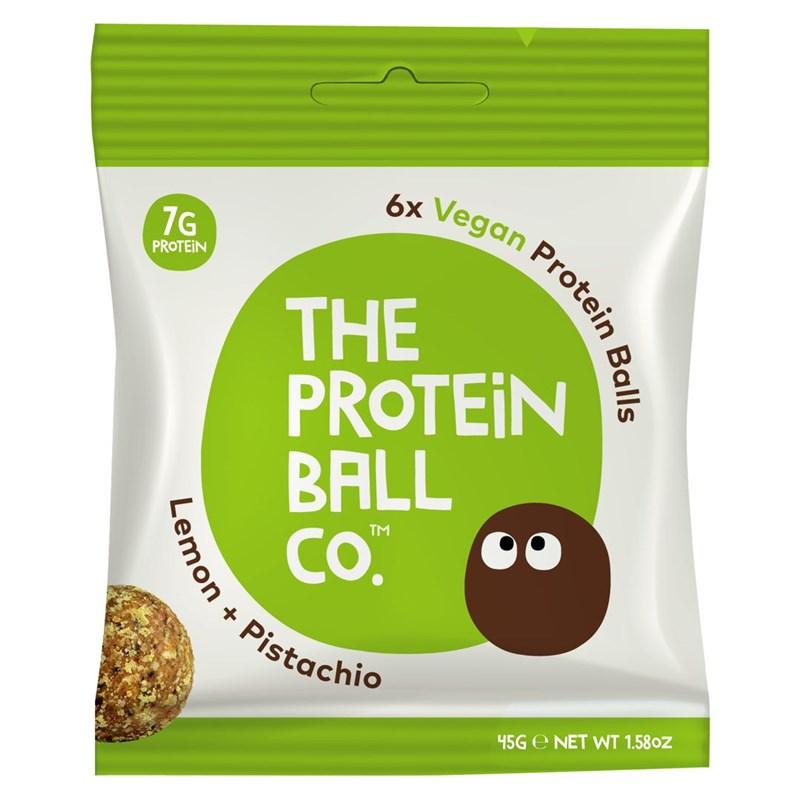 The Protein Ball co Vegan Protein Balls 45g (Veganské proteinové kuličky) lemon + pistachio