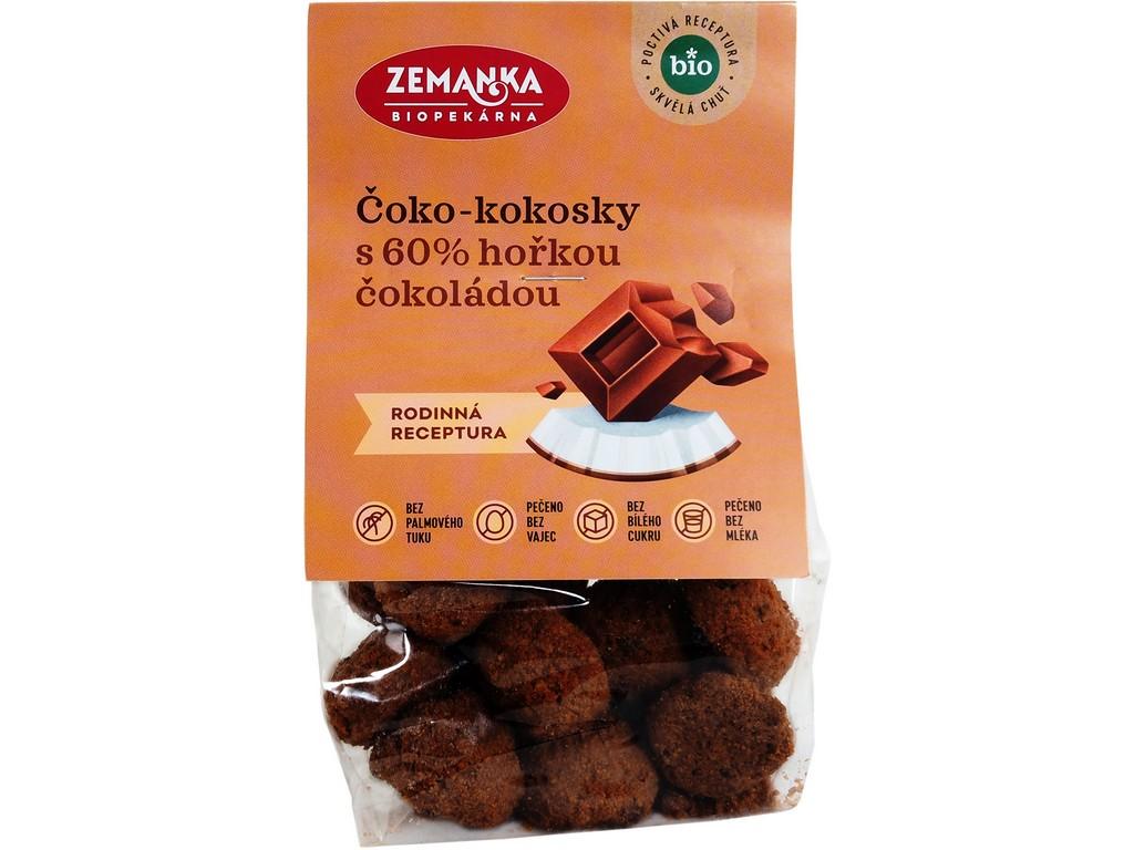 Biopekárna Zemanka Čoko-kokosky bio s Fair Trade čokoládou 100 g