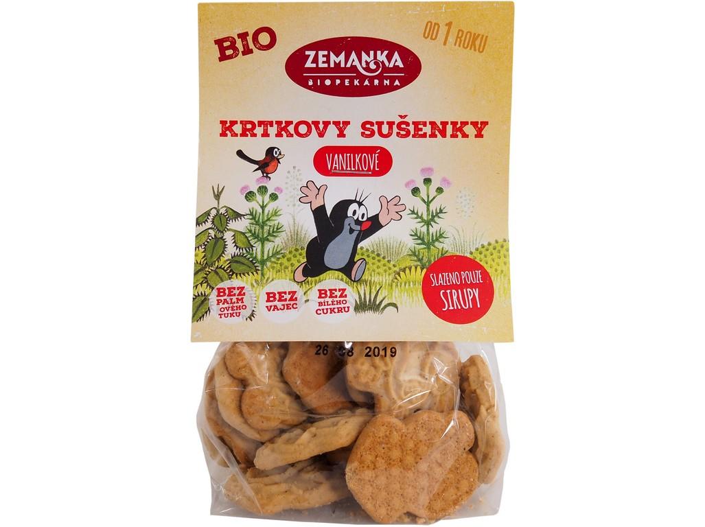Biopekárna Zemanka Krtkovy vanilkové bio sušenky 100 g