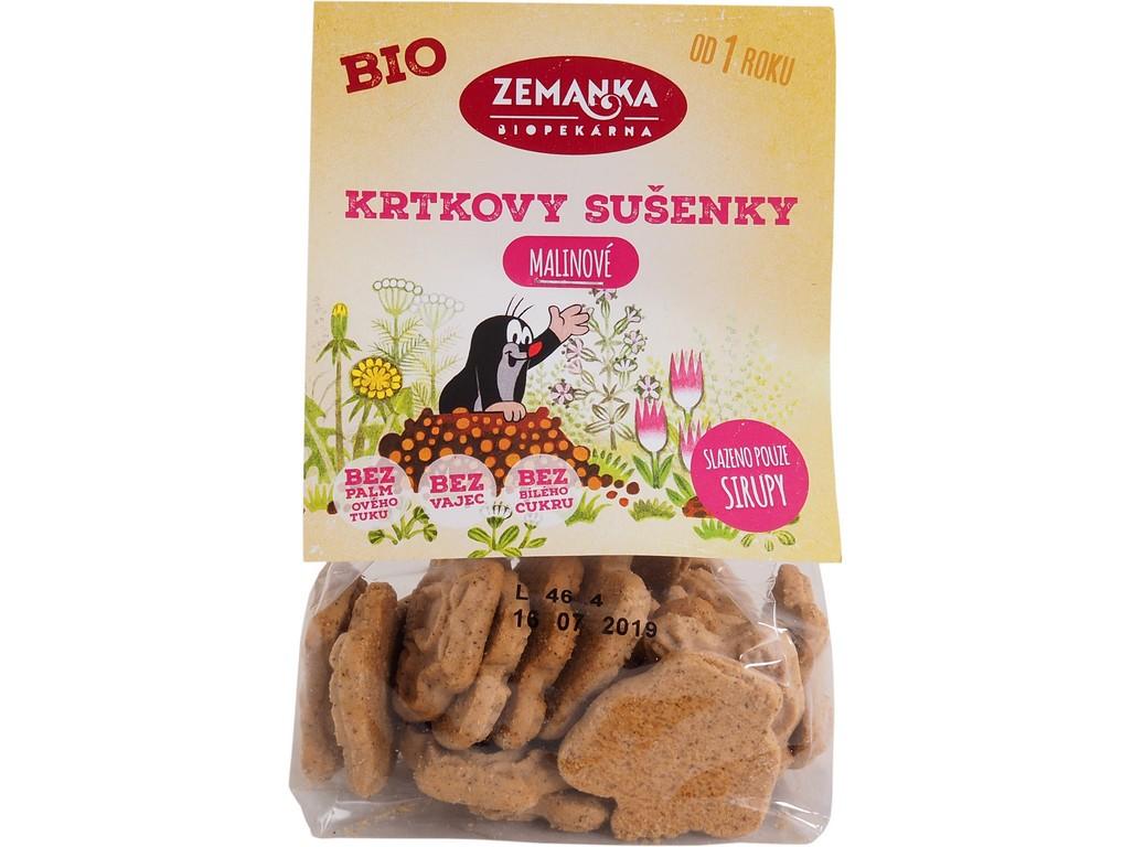 Biopekárna Zemanka Krtkovy malinové bio sušenky 100 g