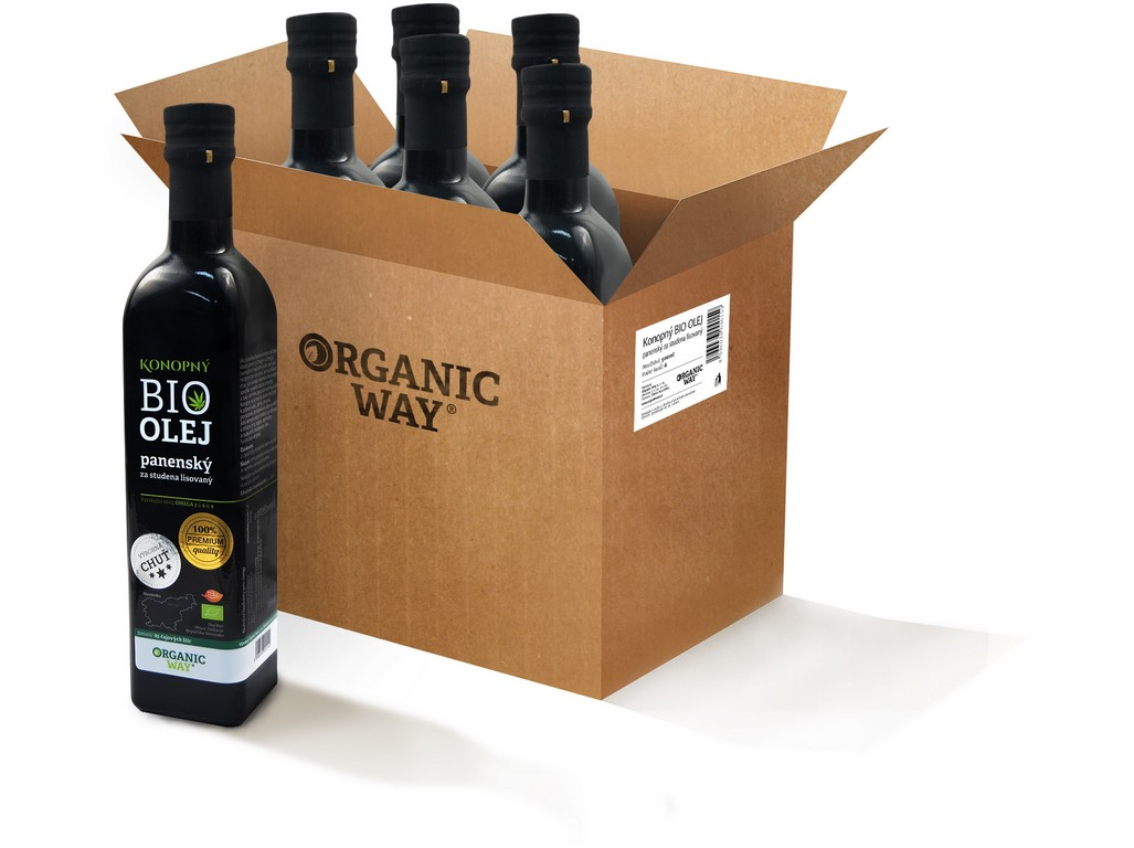 Organic way AKCE Bio Konopný olej panenský 500ml balení 6ks