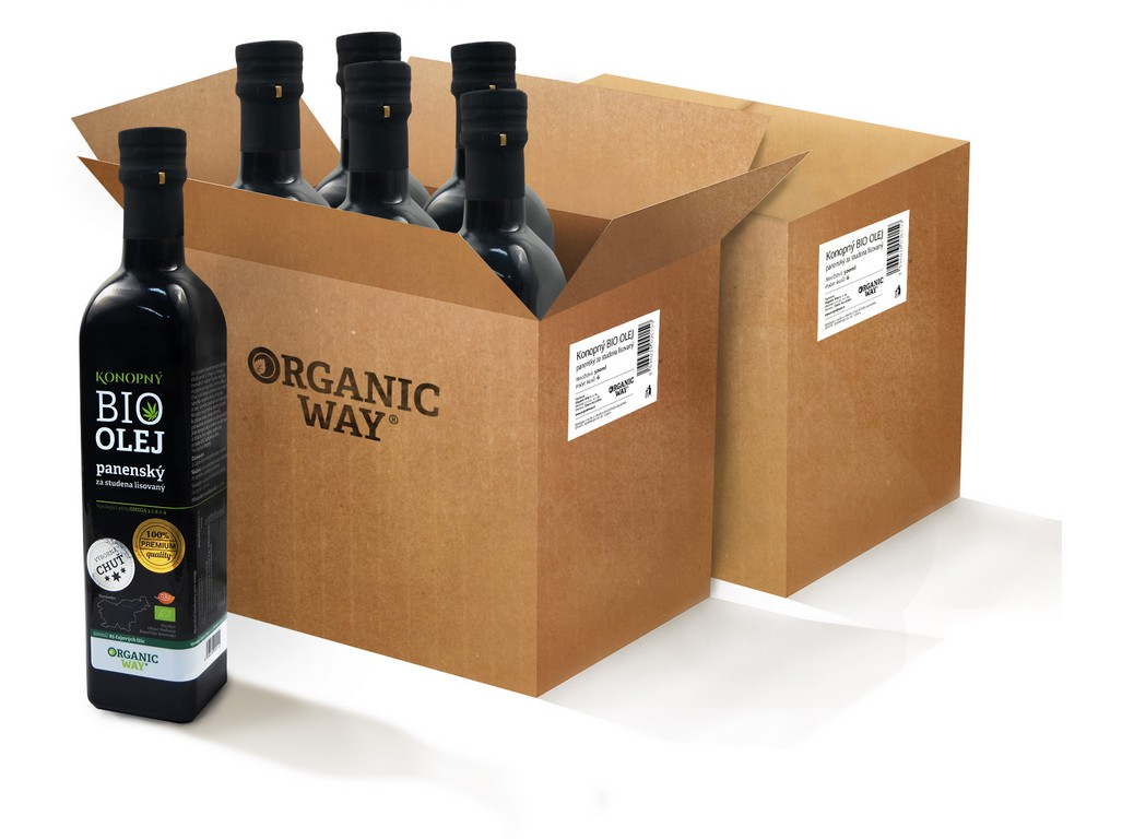 Organic way AKCE Bio Konopný olej panenský 500ml balení 12ks