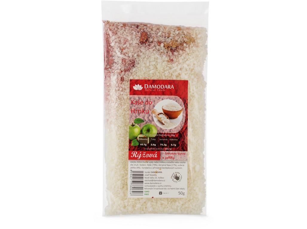 Damodara Instantní kaše do hrnku rýžová s červenou řepou a jablky 50g