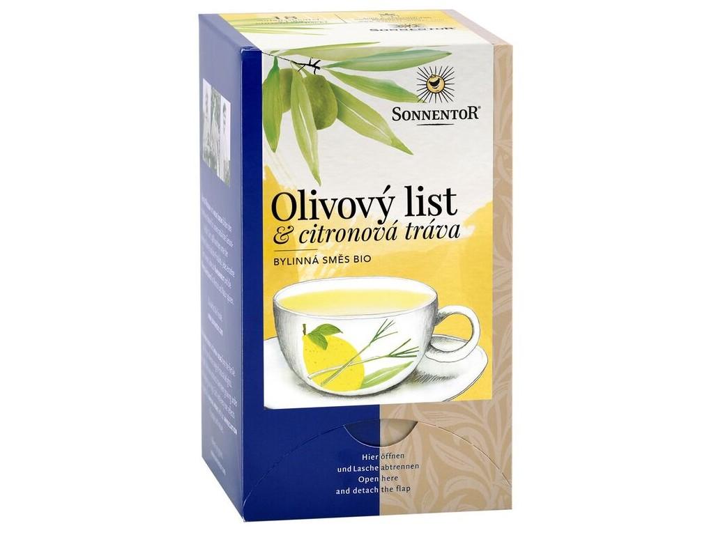 SONNENTOR Bio Olivový list a citronová tráva porcovaný 18x1,8g