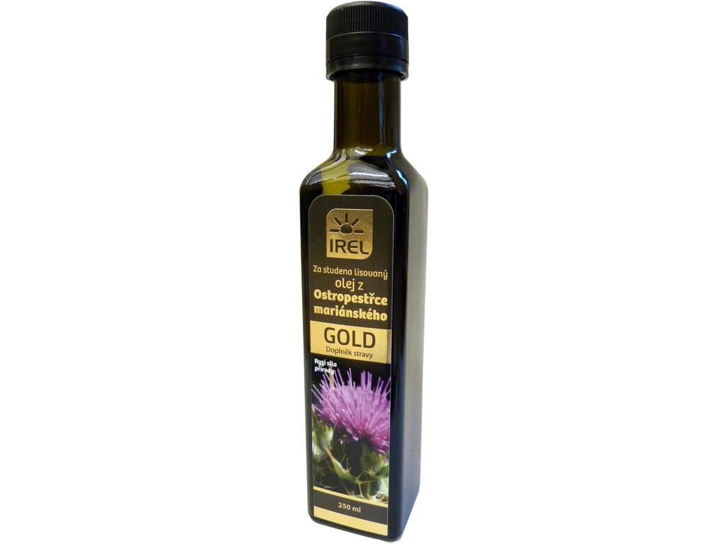 Irel Panenský olej z ostropestřce mariánského 250 ml - GOLD - lahvička