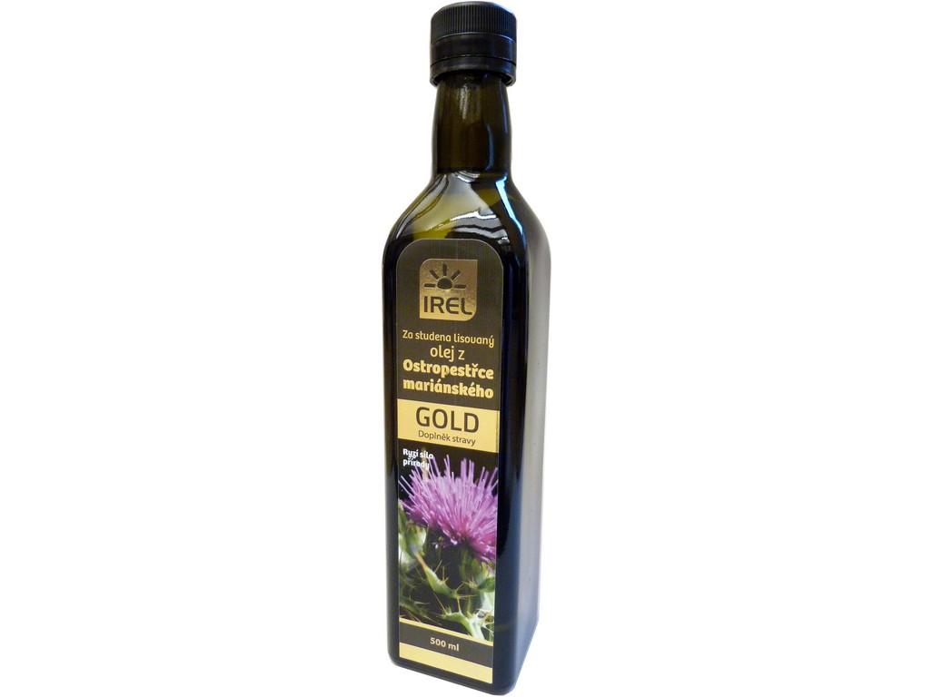 Irel Panenský olej z ostropestřce mariánského 500 ml - GOLD - lahvička