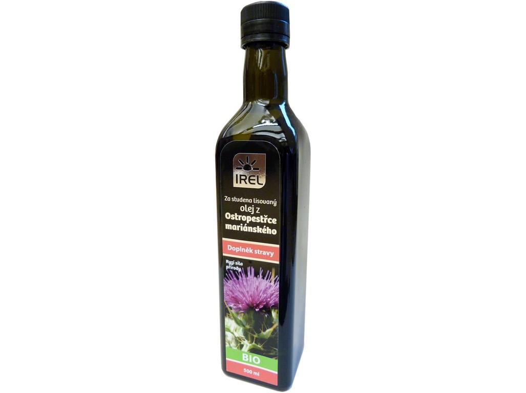 Irel BIO Panenský olej z ostropestřce mariánského 500 ml - lahvička