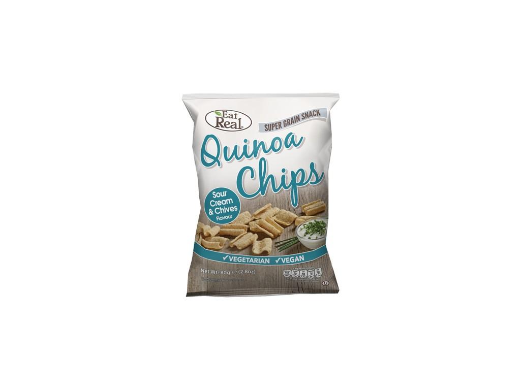EatReal Quinoa chipsy – smetana a pažitka 30g