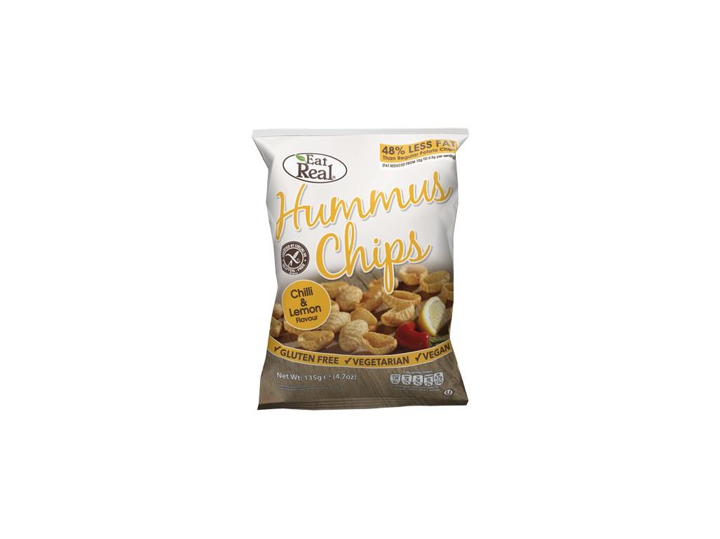 EatReal Hummus chipsy – chilli a citron 45g