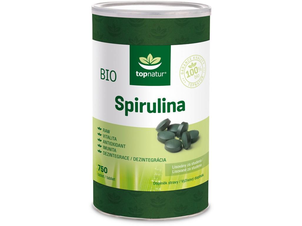 Topnatur BIO Spirulina 750 tablet
