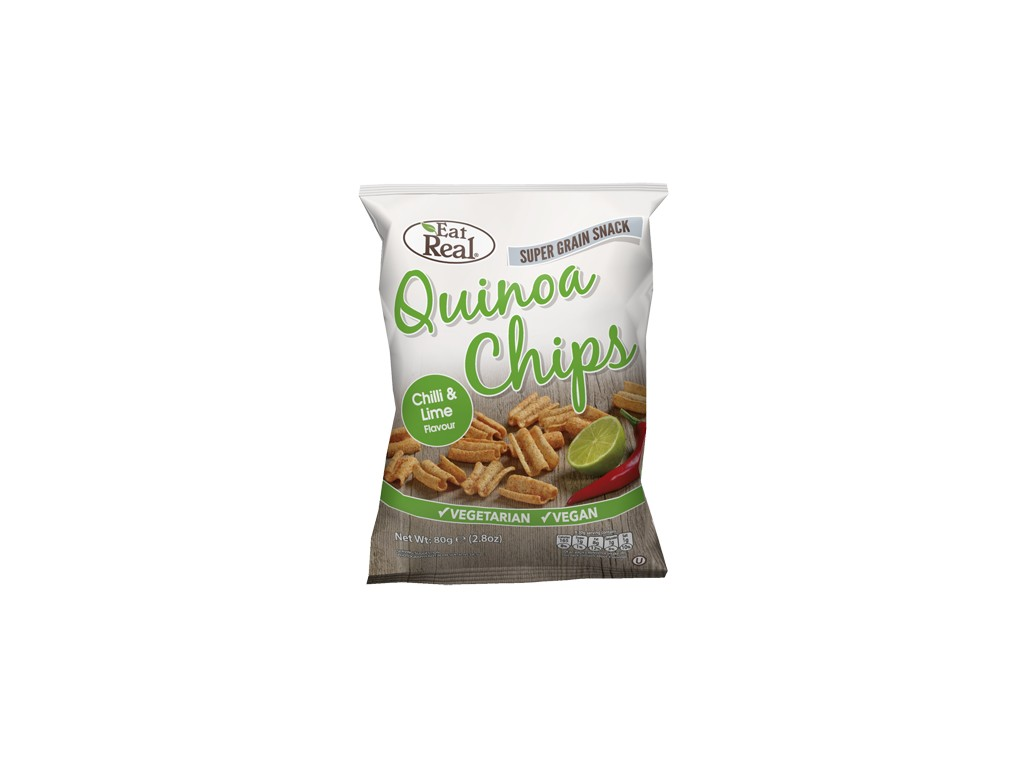 EatReal Quinoa chipsy – chilli a citron 30g