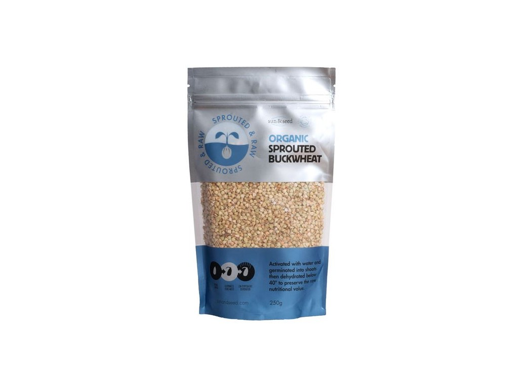 Sun and Seed Naklíčená pohanka - Bio, raw 250g