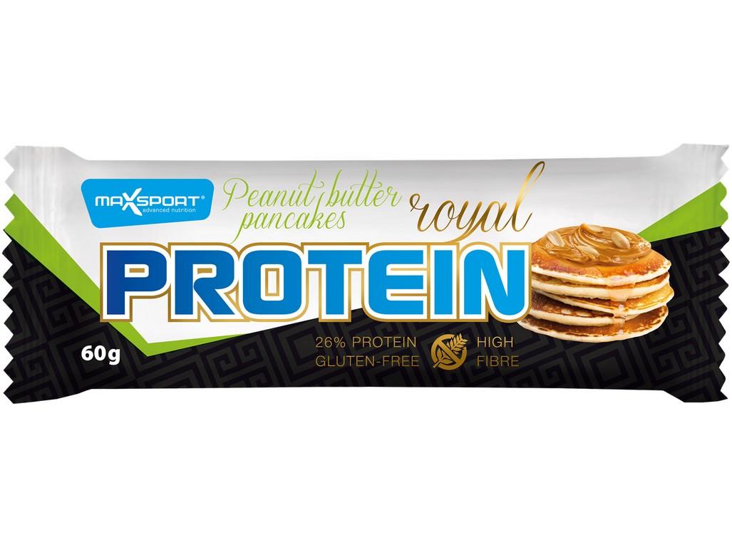 Max sport Tyčinka Royal protein delight Peanut butter pancakess 60g