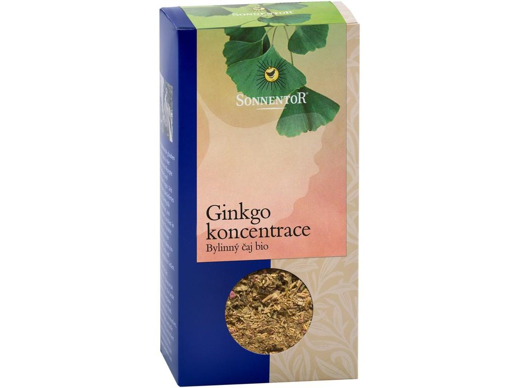 SONNENTOR Bio Ginkgo - koncentrace, zelený čaj syp. s bylinkami 50g