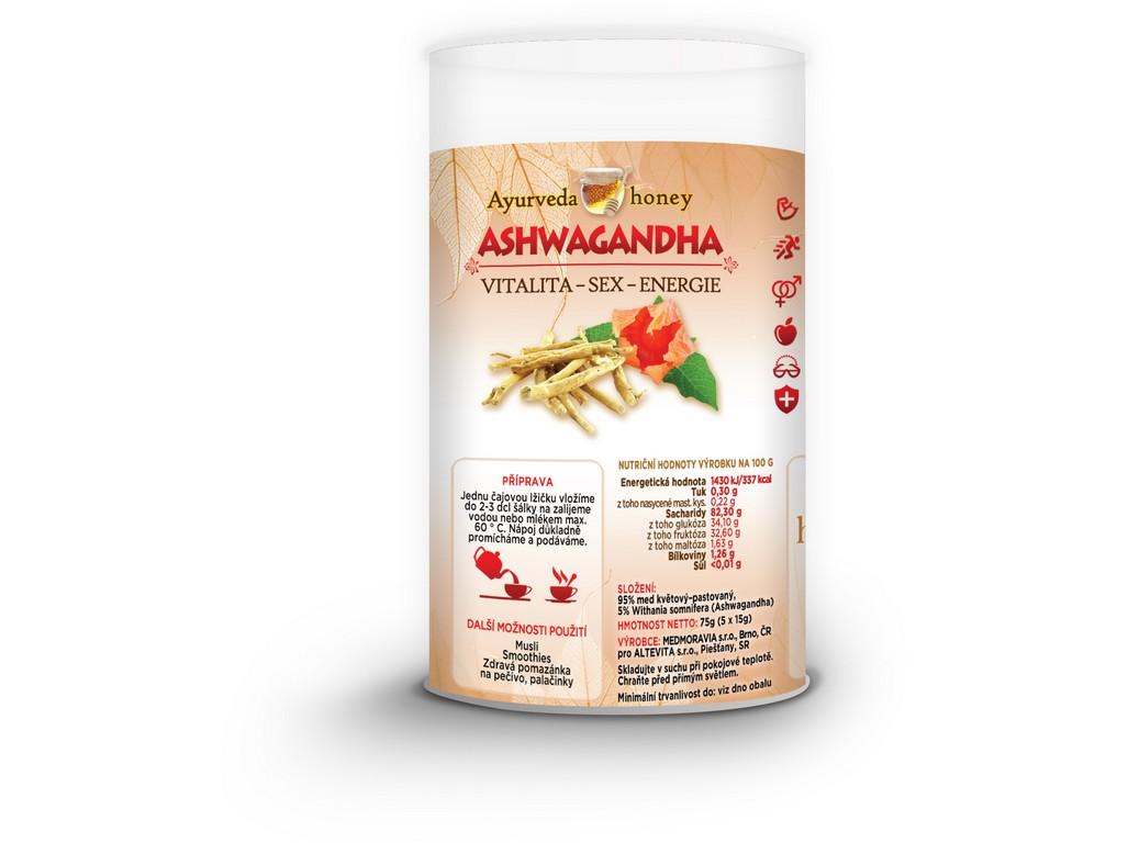 Honeyherbs Ajurvéda med Ashwagandha 5x15g Tubus - vitalita-sex-energie