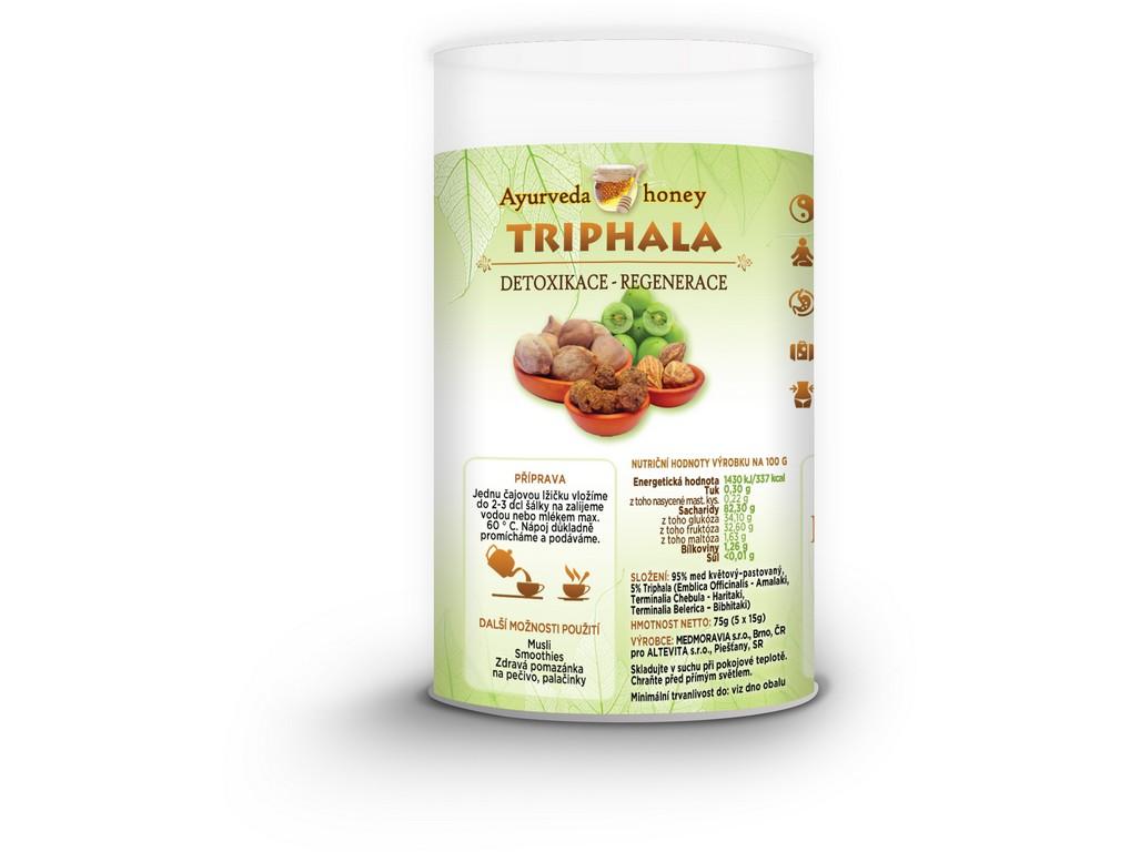 Honeyherbs Ajurvéda med Triphala 5x15g Tubus - detoxikace-regenerace
