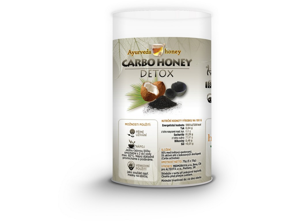 Altevita Carbo honey detox 5x15g Tubus