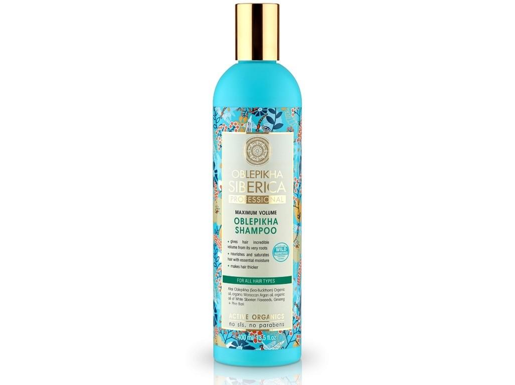 Natura Siberica Rakytníkový šampon pro všechny typy vlasů maximální objem 400ml