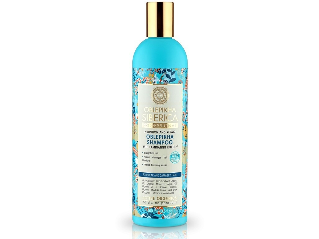 Natura Siberica Rakytníkový šampon pro poškozené vlasy výživa a revitalizace 400ml